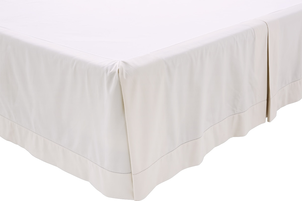 Sheridan 1000tc luxury cotton bed skirt - snow / double