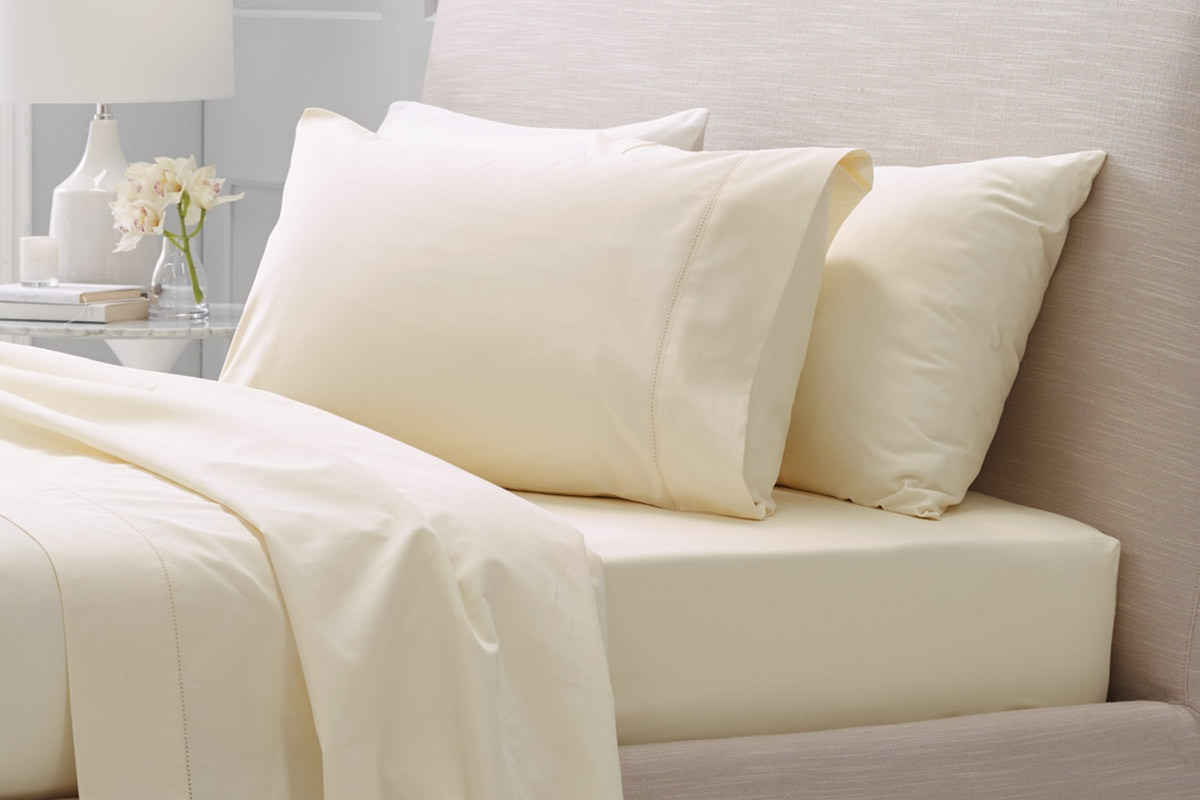 Sheridan 1000tc luxury cotton king pillowcase - chalk / king