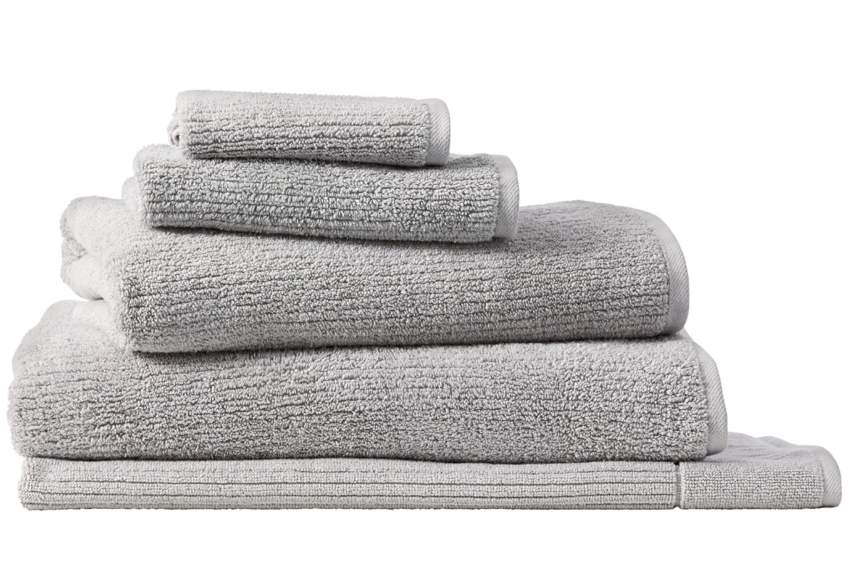 Sheridan Living textures towel collection - ash / bath sheet