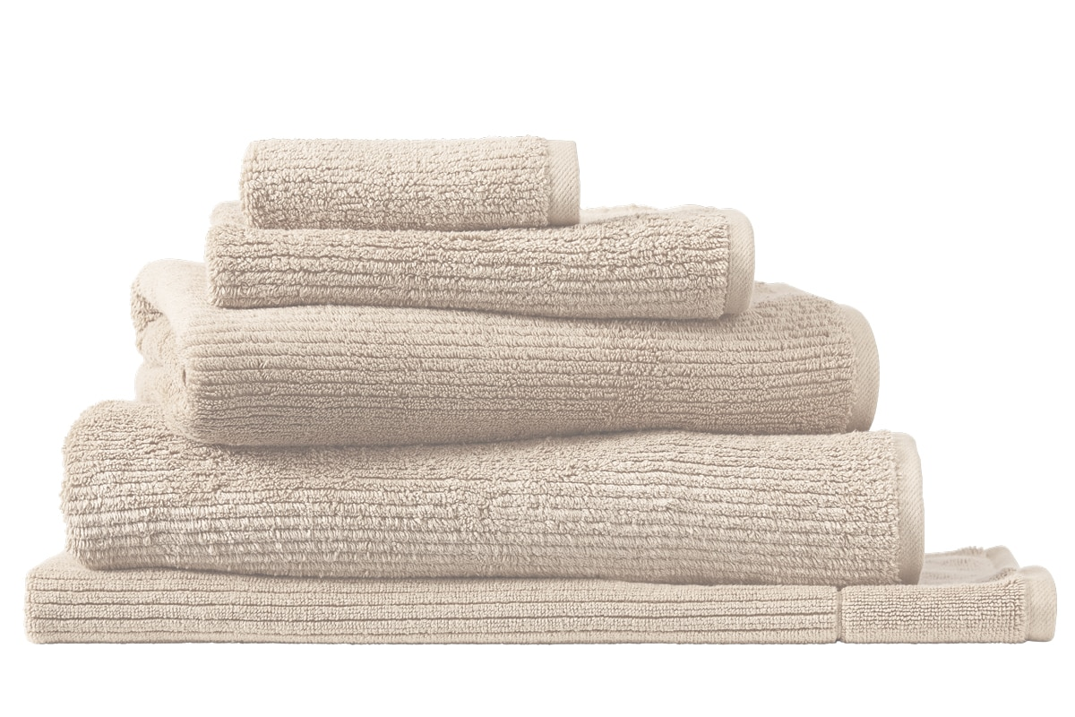 Living textures towel collection - pumice / face washer