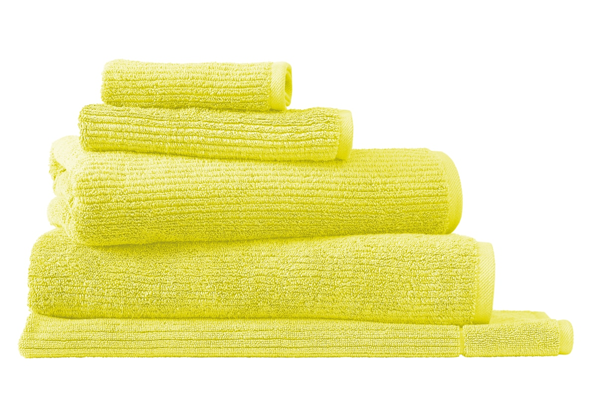 Sheridan Living textures towel collection - citron / face washer
