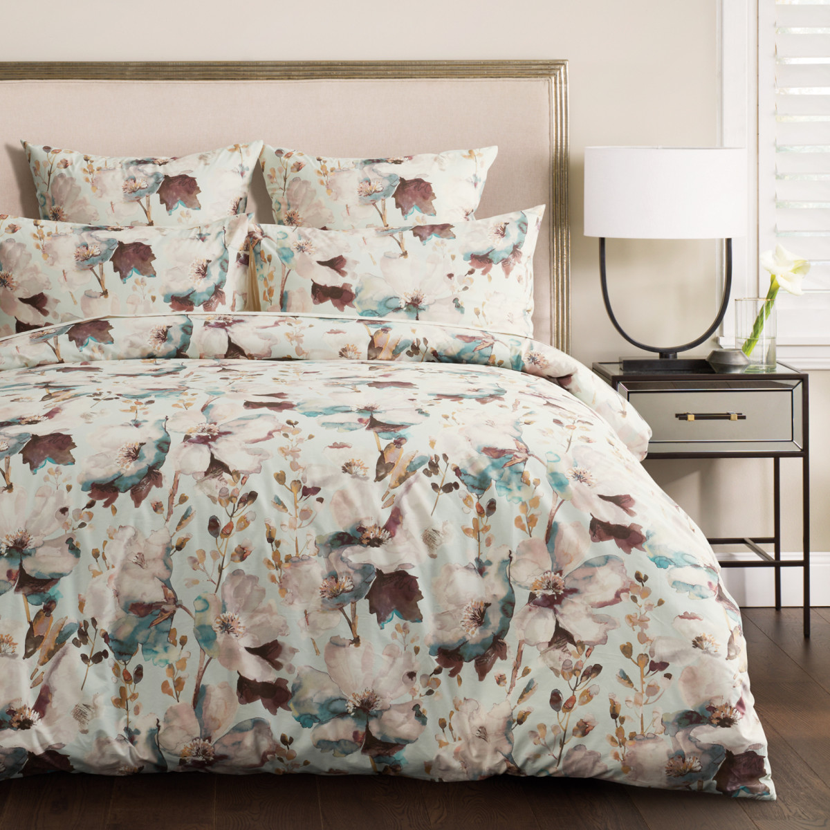 Sheridan Aria Quilt Cover Set - Blue