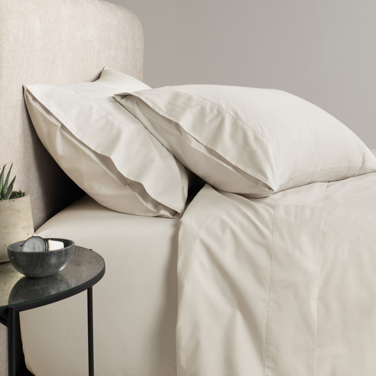 Sheridan 300tc Percale flat sheet - Sand