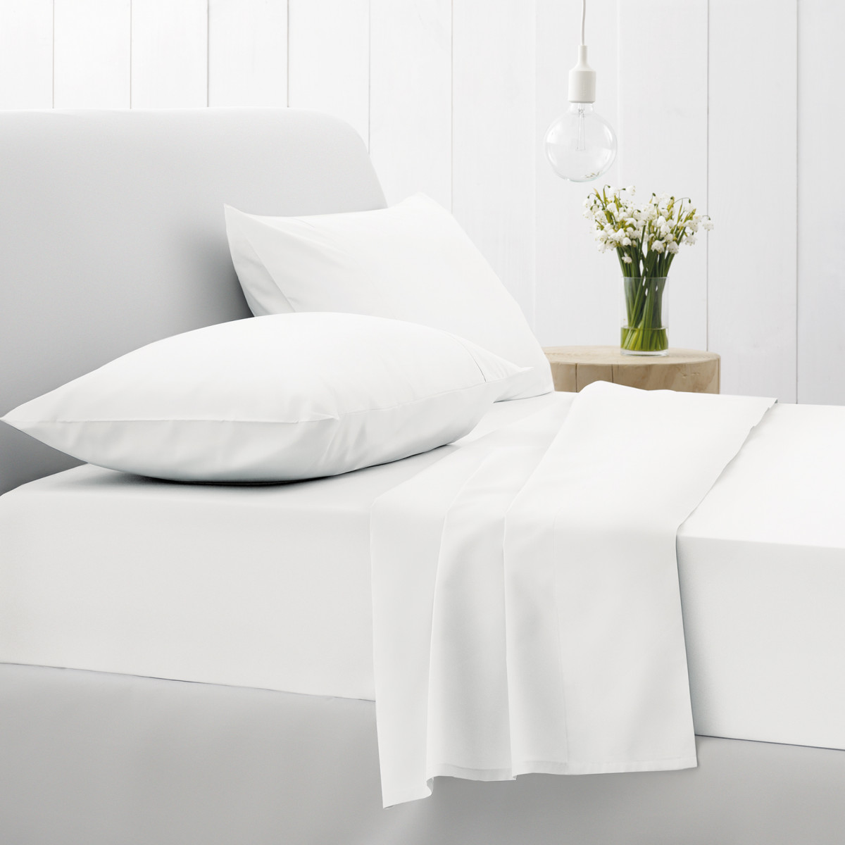 Sheridan 500tc Sateen Flat Sheet - Snow