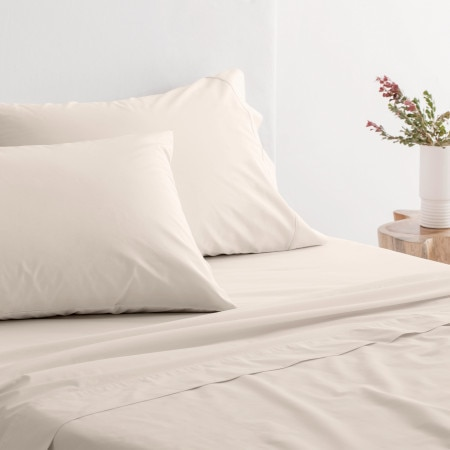 Sheridan 300Tc Organic Percale Pillowcase (Pair) - Natural