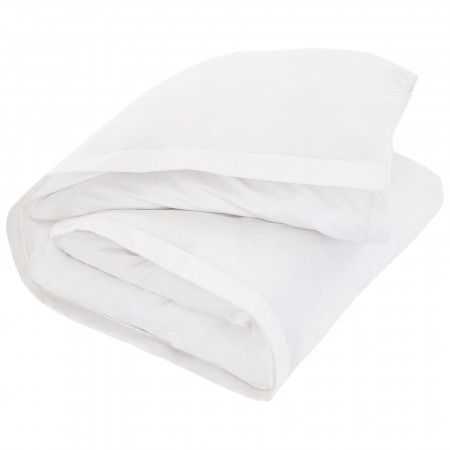 1000tc Luxury Cotton Tailored Quilt Cover - Snow