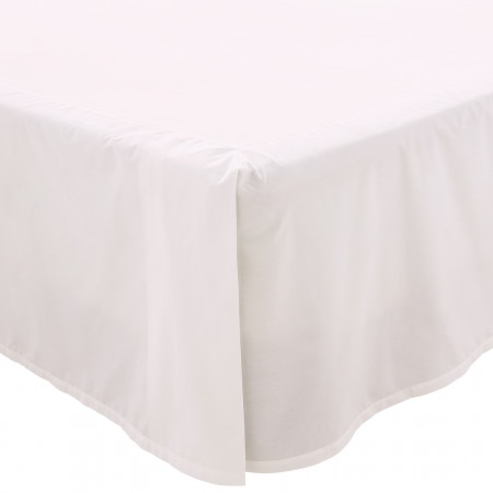 300tc Classic percale Bed Skirt - Snow - Sheridan
