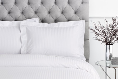 1200tc Millennia tailored pillowcase - Snow - Sheridan