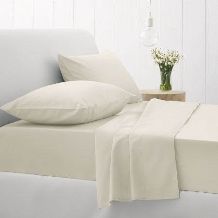 Sheridan 500tc Sateen Flat Sheet - Chalk