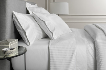 Midnight Double Size Luxurious Sheridan Millennia 1200 Thread Count Hotel Collection Timeless Stripes Design Flat Sheet