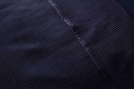 Christobel quilted bed skirt | midnight (dark blue)