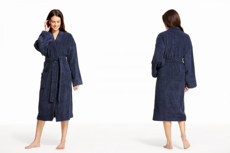 Sheridan Quick Dry Luxury Unisex Bathrobe - Navy