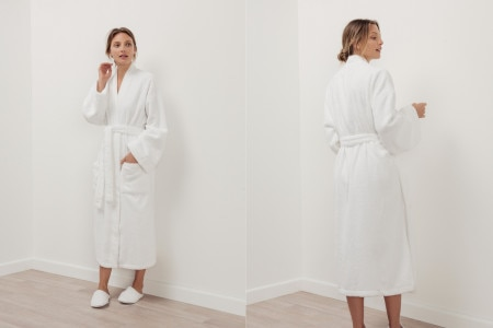 Sheridan Quick Dry Luxury Unisex Bathrobe - White