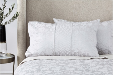 Sheridan Stedwell Standard Pillowcase (Pair) - Pale grey