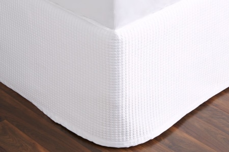 Christobel quilted bed skirt | white