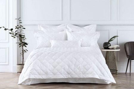 Sheridan 1200Tc Millennia Bed Cover - WhiteSheridan 1200Tc Millennia Bed Cover - White