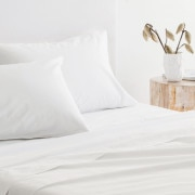 Sheridan 300Tc Organic Percale Pillowcase (Pair) - White