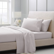 1000tc Luxury Cotton flat sheet - Dove
