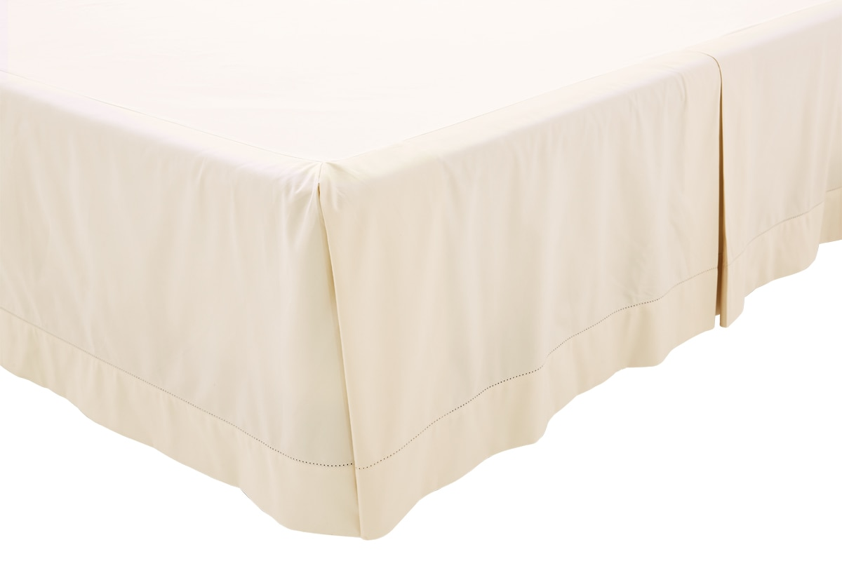Sheridan 1000tc luxury cotton bed skirt - chalk / king