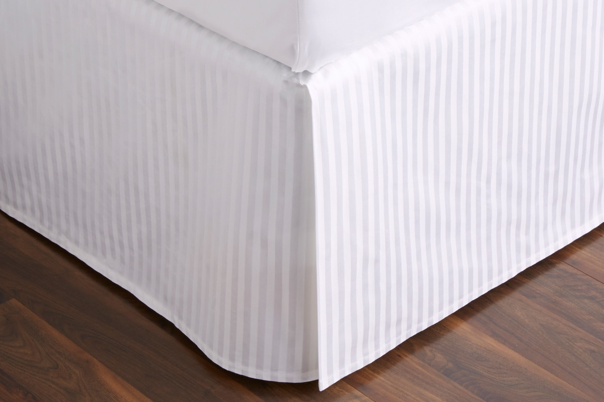 Sheridan 1200TC Millennia bed skirt - snow / king