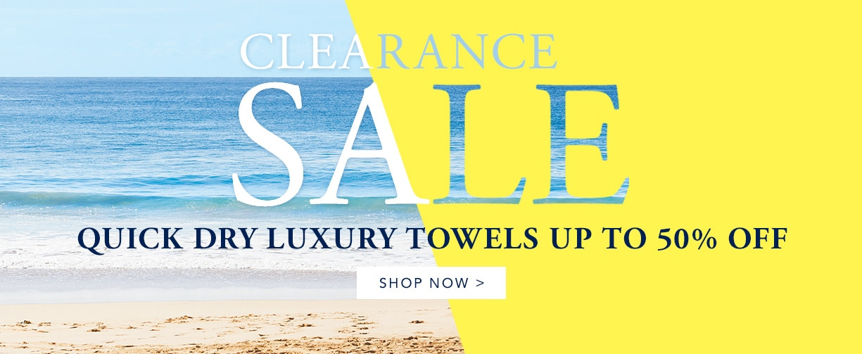 Up to 50% Off Luxury Quick Dry Towels